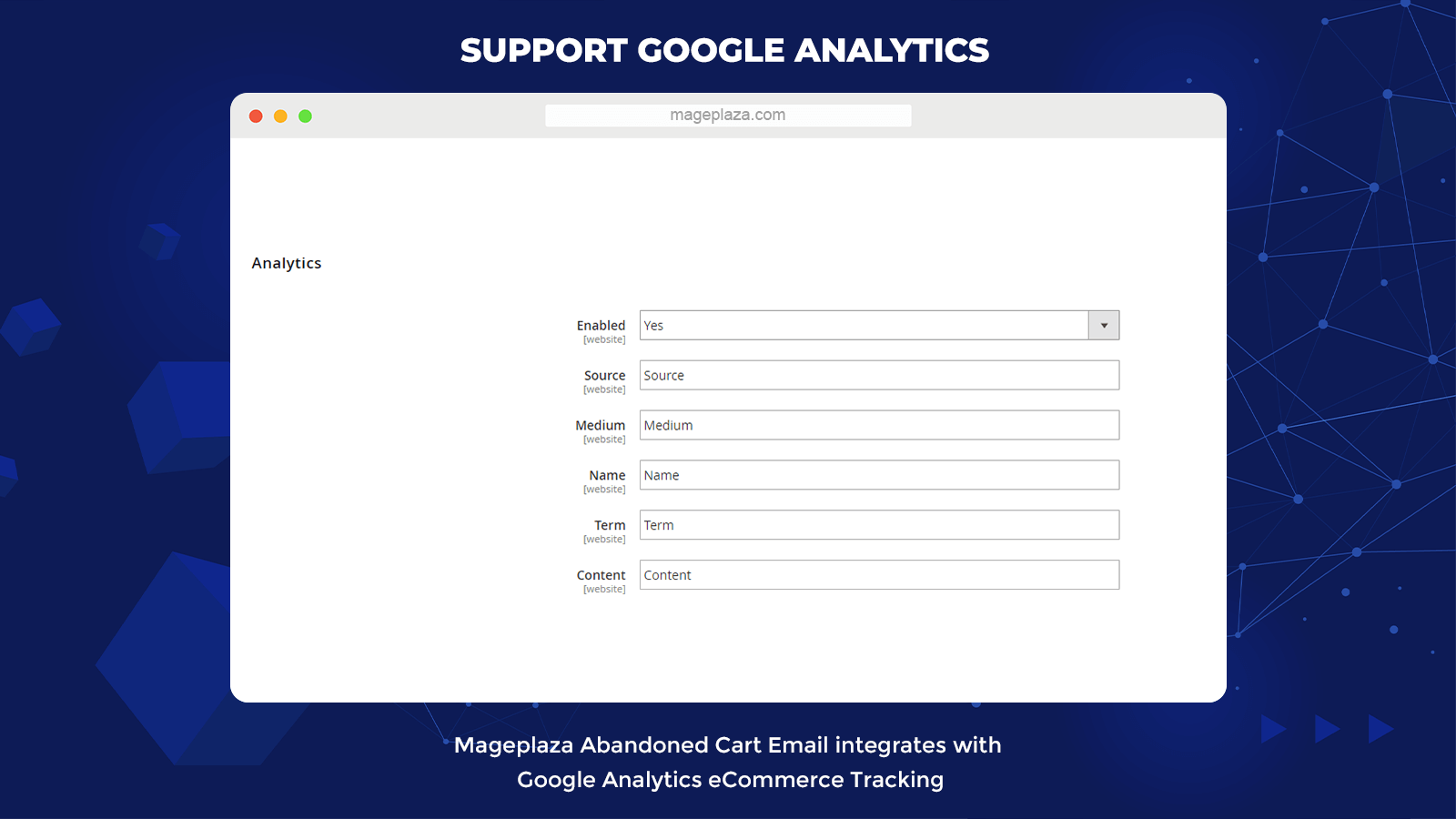 magento 2 abandoned cart email Supports Google Analytics