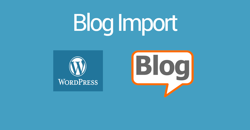magento 2 blog import data