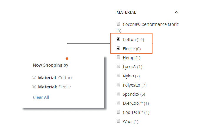 e3106ecb658835 Magento 2 Improved Layered Navigation Configure - Filters