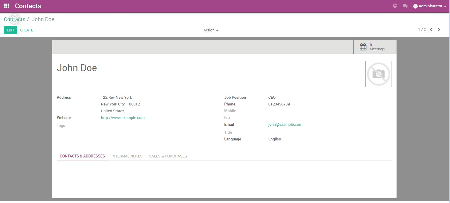 Sync Odoo Accounts