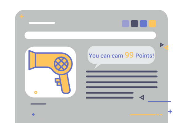 Reward Points points indicators