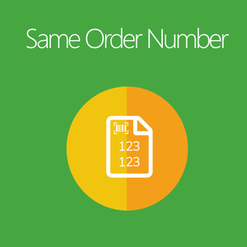 Magento 2 Same Order Number extension