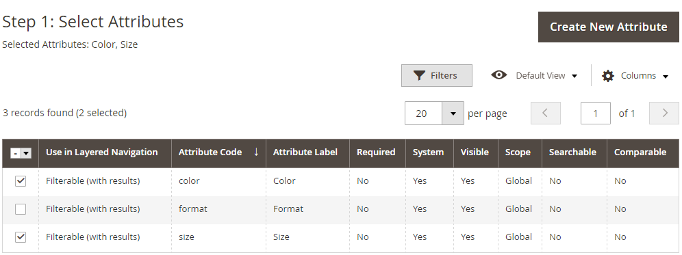 How to create Configurable Product Set Attributes