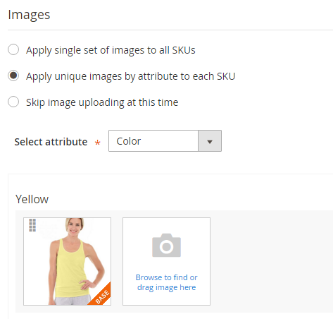 How to create Configurable Product Unique Image per SKU