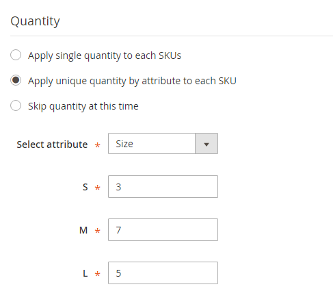 How to create Configurable Product Unique Quantity per SKUs