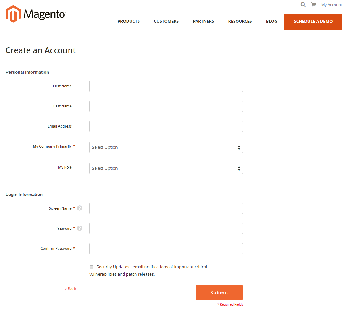 How to create Magento Connect Account Registration
