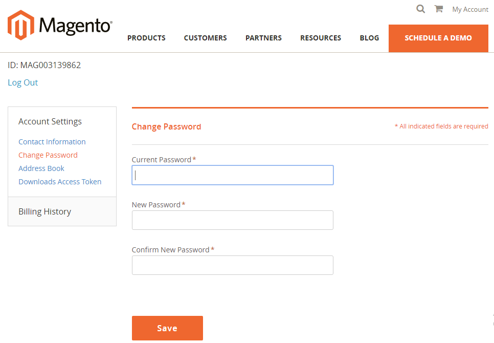 How to create Magento Connect Account Reset Password