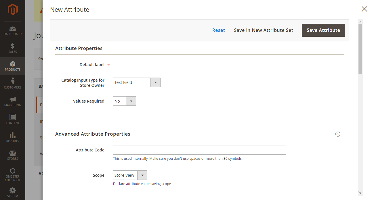 How to create a product attribute Add Attributes