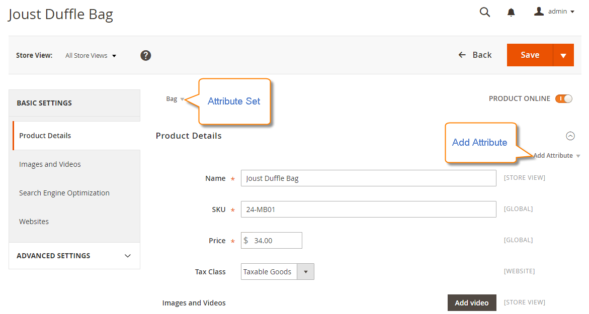 How to create a product attribute Overview of Adding Attributes