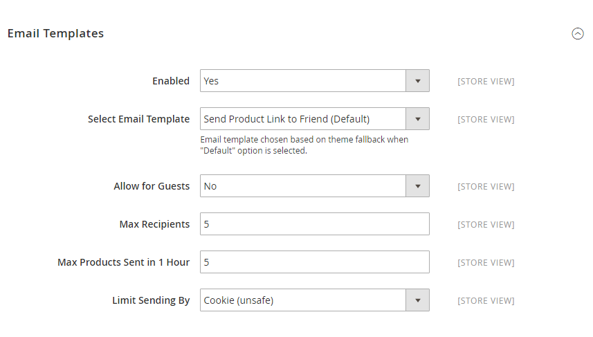 How to setup Refer Email to a Friend Email Template