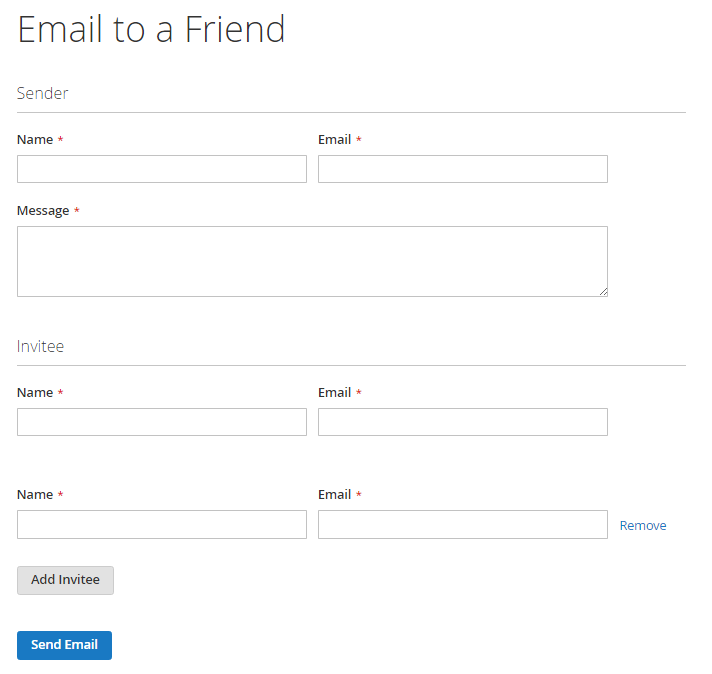How to setup Refer Email to a Friend Send Email
