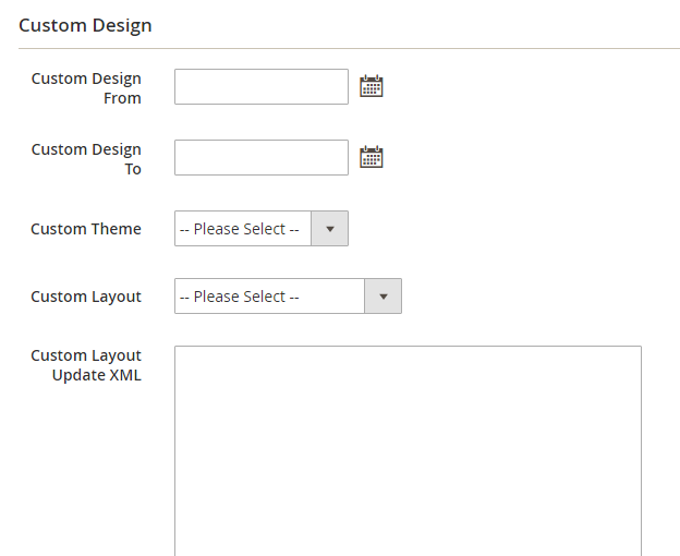 How to Add a New CMS Page Custom Design