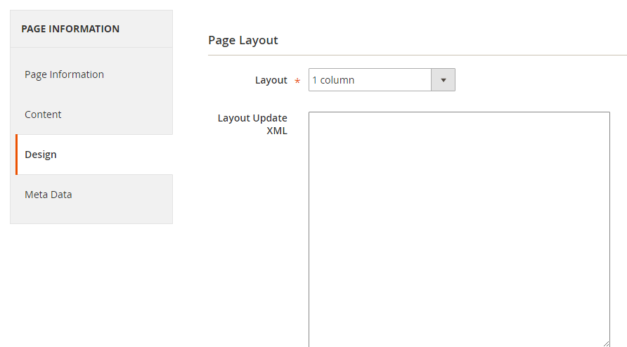 How to Add a New CMS Page Page Layout