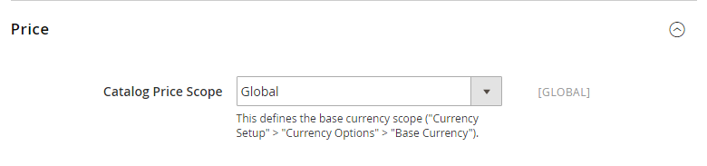 How to Configure Currency Catalog Price Scope