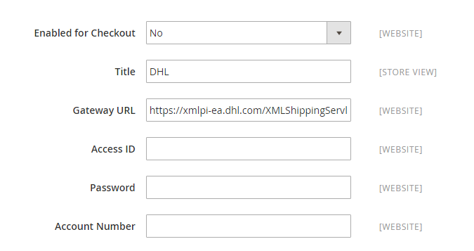 How to Configure DHL Carrier DHL Account Settings