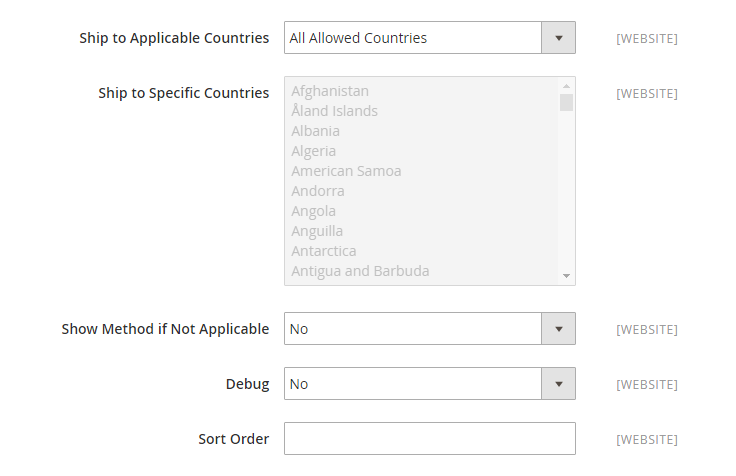 How to Configure DHL Carrier DHL Applicable Countries