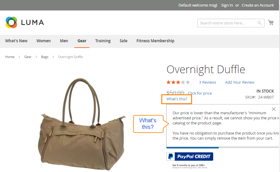 How To Configure Minimum Advertised Price MAP In Magento - Map minimum advertised price
