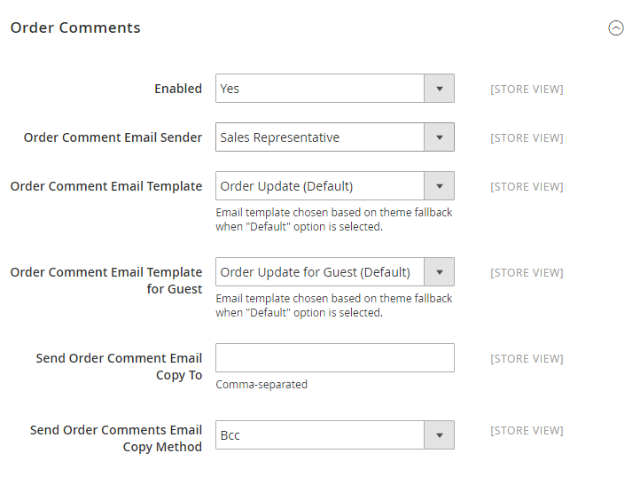 How to Configure Sales Email Order Order Comments