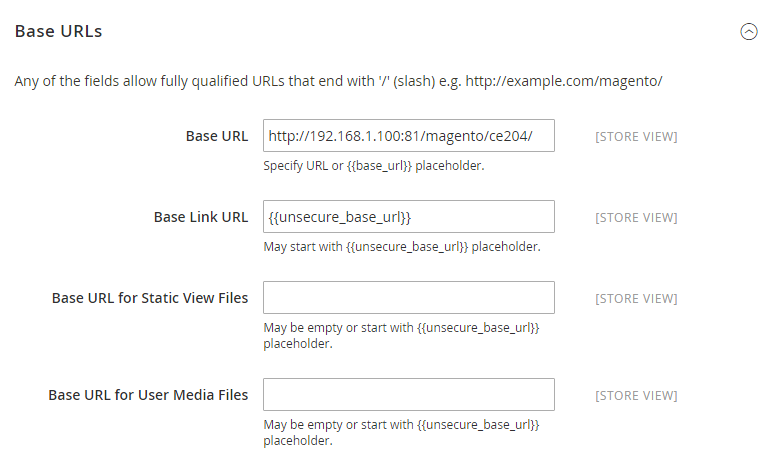 How to Configure Store URLs Base URLs
