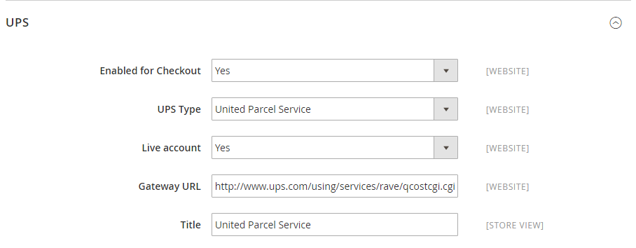 How to Configure UPS Carrier Enable UPS