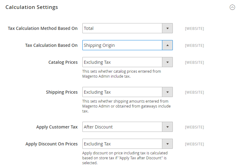 How to Configure US Tax Calculation Settings