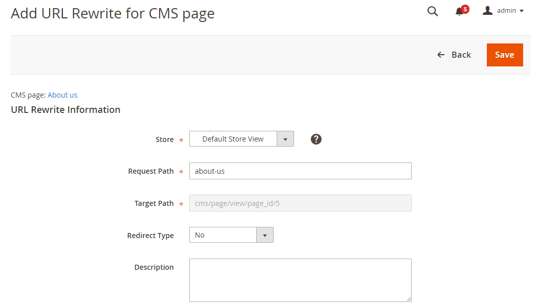 How to Create CMS Page Rewrites URL Information Rewrites