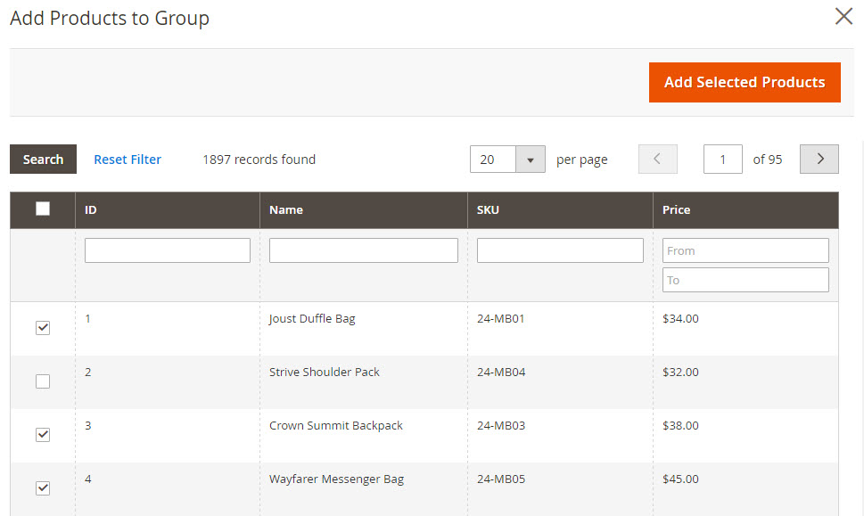 How to create Grouped Product Add Product to Group