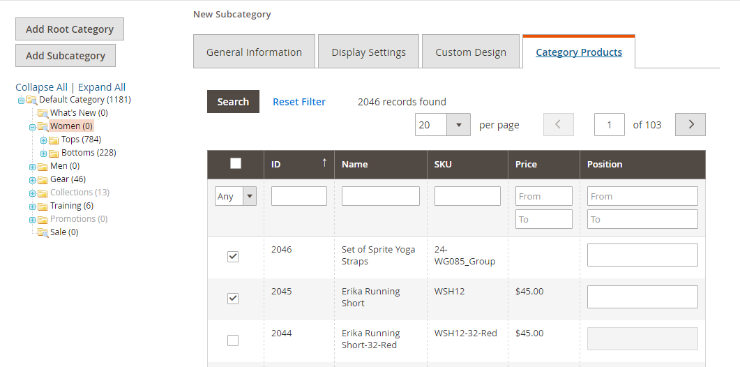 How to Enable Flat Catalog Add Products to Test Category