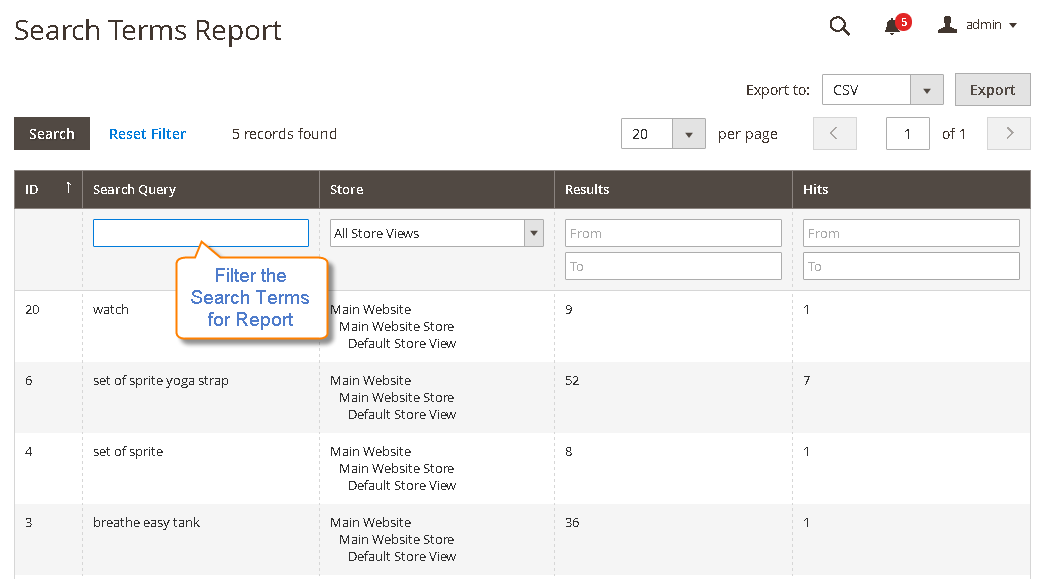 How to Report Search Terms Search Terms Report