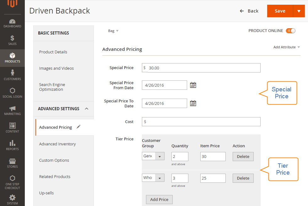 How to Setup Advanced Pricing