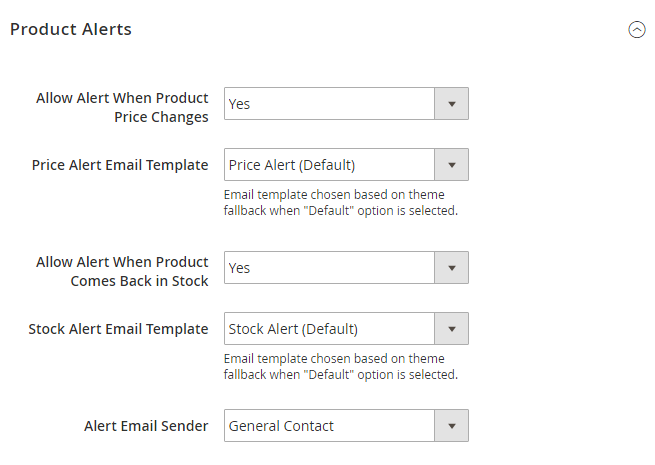 How to Setup Product Price Email alert email settings