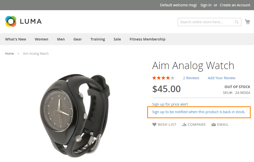 How to Setup Product Price Email sign up for in-stock alert