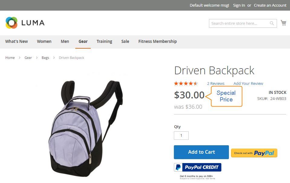How to Setup Special Price on Product Page