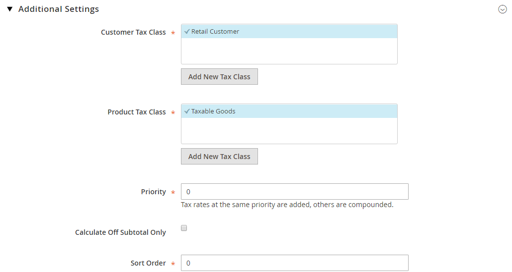 How to Setup Tax Rules Magento 2 Additional Settings
