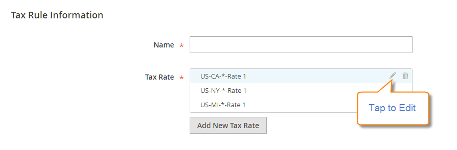 How to Setup Tax Rules Magento 2 Edit Tax Rules Information