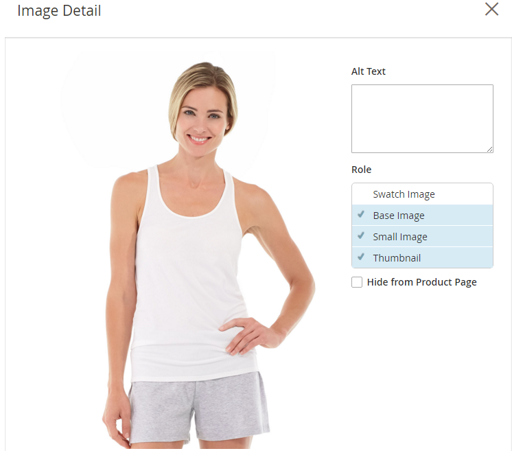 How to upload Images Product Image Detail