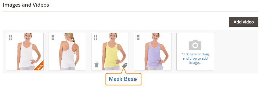How to upload Images Product Mask Base