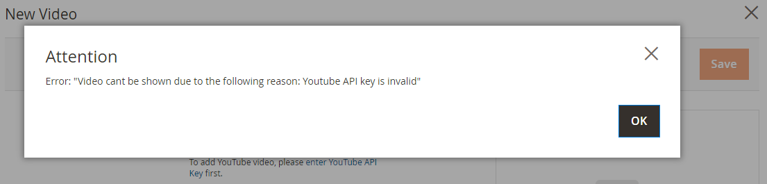 How to upload Product Videos Error Message