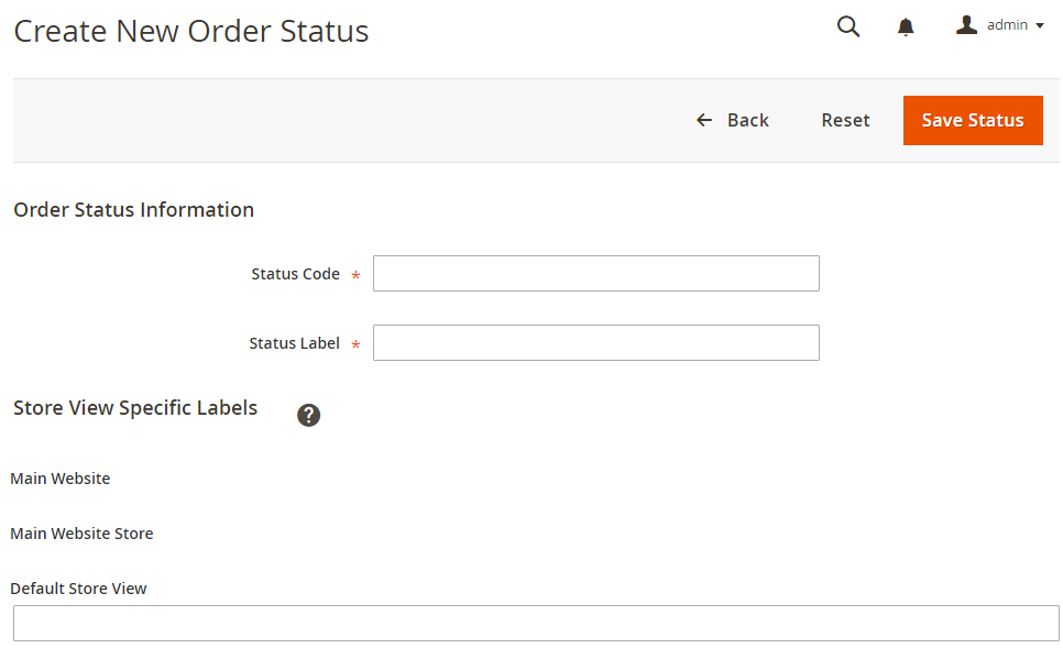 Magento 2 order status and order state Create new Order Status