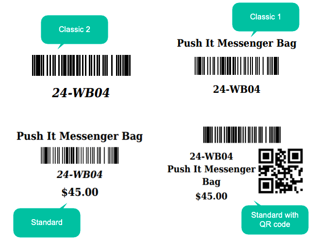 Magento 2 barcode 4 ready to use barcode label templates