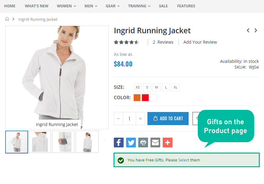 Mageplaza Magento 2 checkout flow pro free gifts