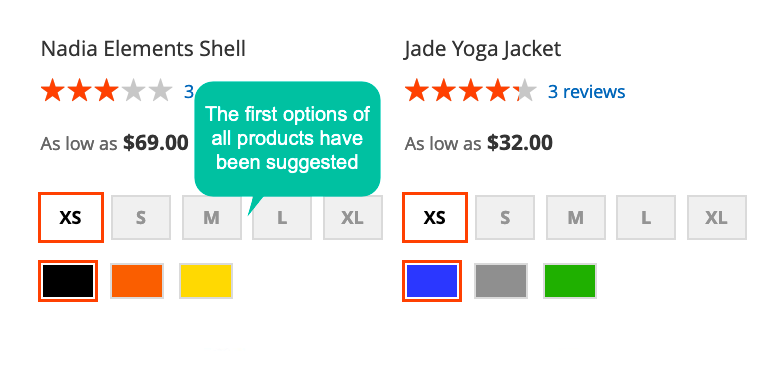 Magento 2 Products Preselect extension