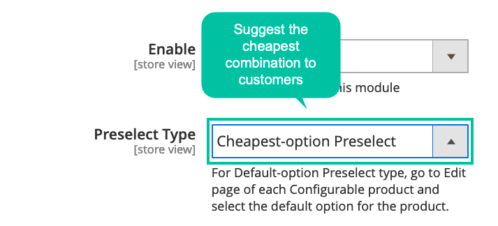 Magento 2 Product Preselect