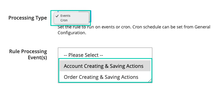 Activate switching groups by events or cron