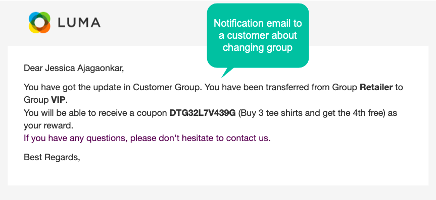 Flexibly switch customer groups