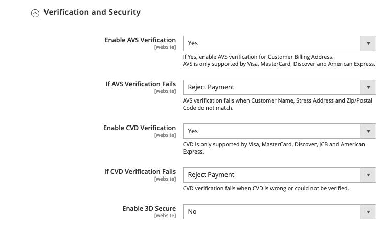 Magento 2 Moneris Ensure transaction with high security